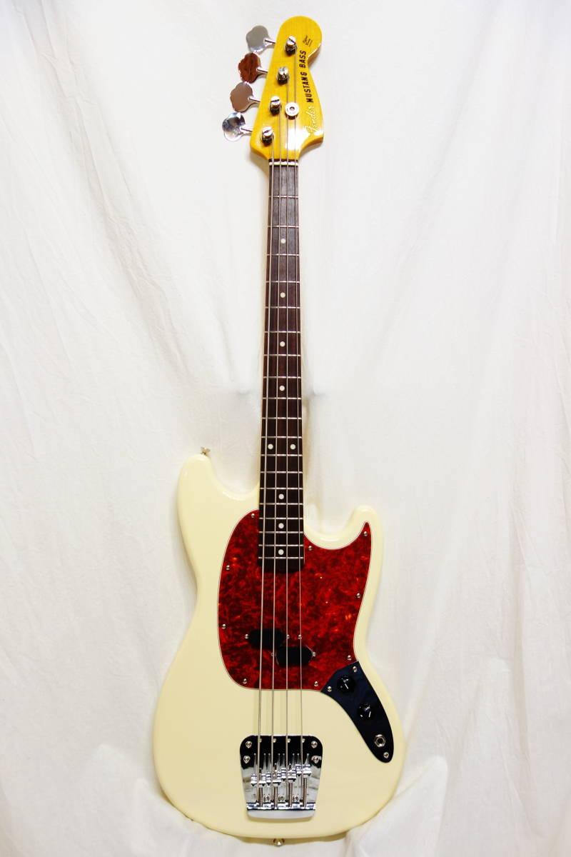 ★レア!Fender Japan ムスタングベース「MB-SD VWH」 ショートスケール 美品 E-1922_画像2