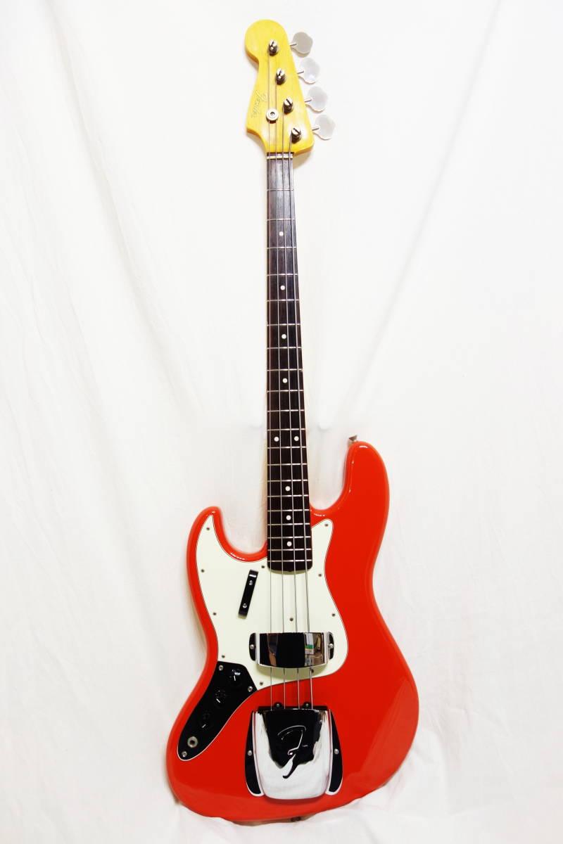 ★レアカラー!Fender Japan ジャズベ「JB62-70L FRD」レフティ 左用 美品 F-1907_画像2