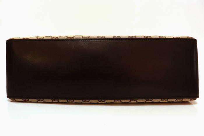 【極美品】グッチ Gucci GGキャンバスXレザー トートバッグ 定価約10万円 ハンドバッグ 通勤 通学_画像4