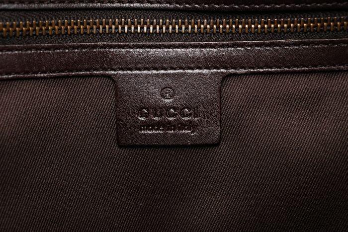 【極美品】グッチ Gucci GGキャンバスXレザー トートバッグ 定価約10万円 ハンドバッグ 通勤 通学_画像8