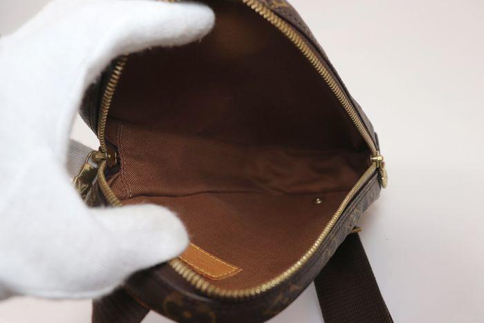 【極美品】ルイヴィトン Louis Vuitton  ポシェットガンジュ ウエストポーチ  ボディバッグ  斜め掛け 定価約13万円 _画像8