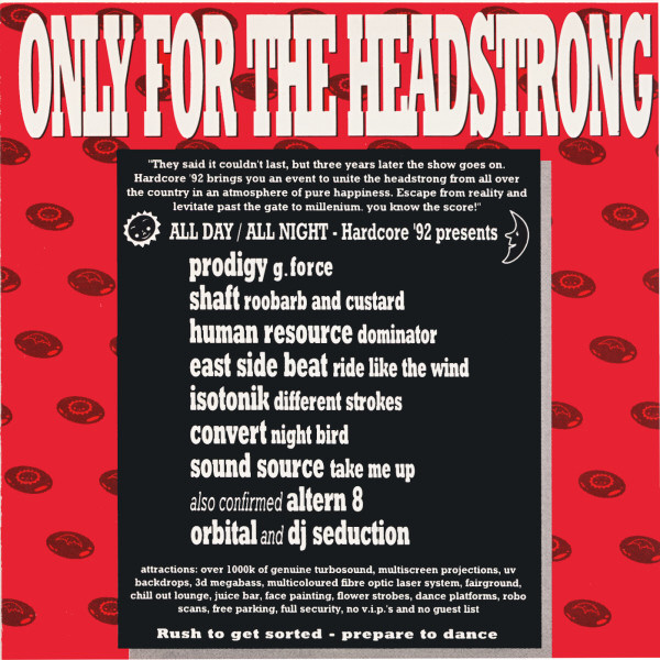 Only For The Headstrong The Ultimate Rave Compilation ブレイクビーツ プロディジー オービタル ALTERN 8 ユタ・セインツ 廃盤_画像1