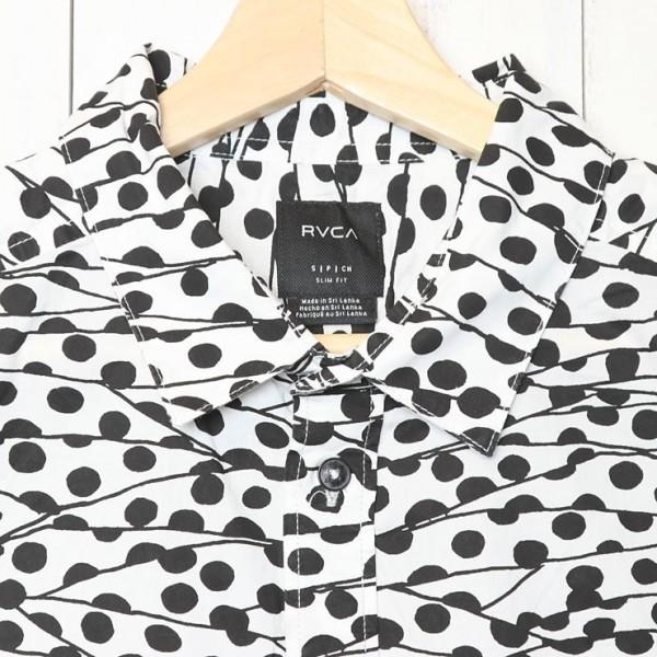 [クリックポスト対応] RVCA ルーカ TOM GERRARD BUTTON-UP SHIRT 半袖シャツ M503TRTG Sサイズ_画像3