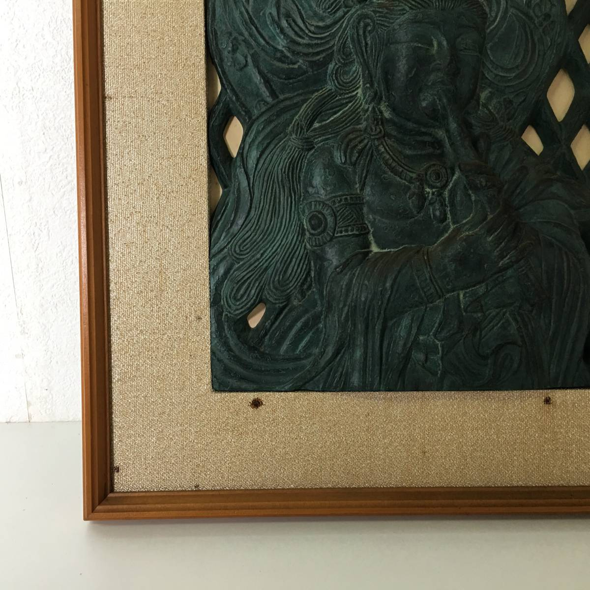 kt11/120 レリーフ 観音像 京都科学標本株式会社 cimastone replicas 額47×37×3cm 陶器製? 壁掛け 工芸美術品_画像6