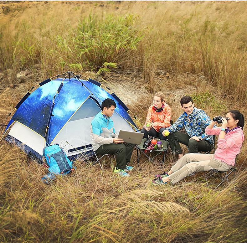 ☆☆☆人気美品☆☆☆3-5人用 ワンタッチテント 防水 キャンプ用品 家族でも広々 アウトドア 簡単設営_画像2