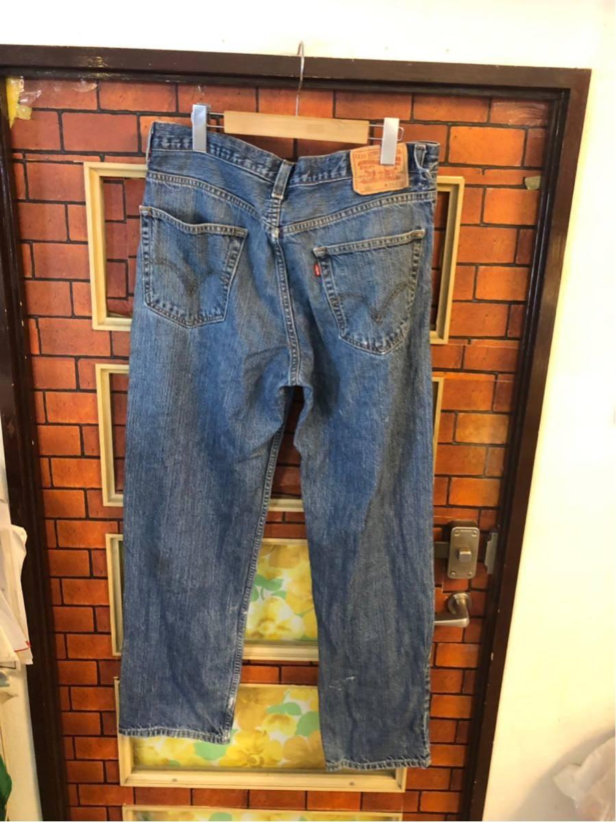 1円スタート Levi's デニムパンツ Gパン ジーンズ 550 34インチ_画像3
