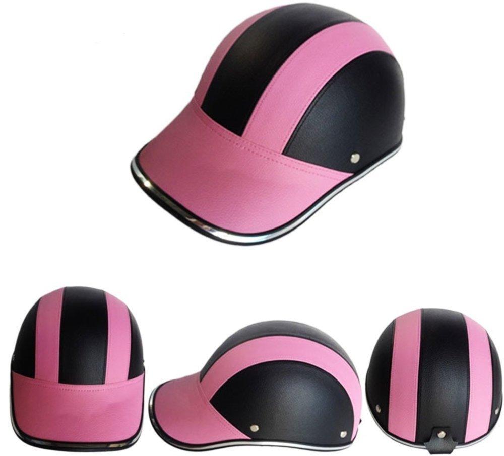 PU 革 メンズ オートバイ Open Half face ヘルメットs Bike Bicycle スクーター ヘルメット 女性 Moto_画像3