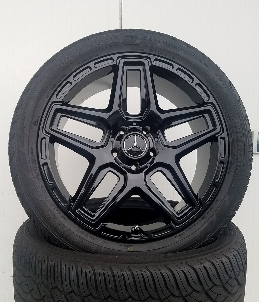 国産タイヤset LEXXEL Anthem メルセデス ベンツ Gクラス ゲレンデ G63 G65 G550 G500 G350 YOKOHAMA PARADA SPEC-X 285/45R22 22インチ_画像2