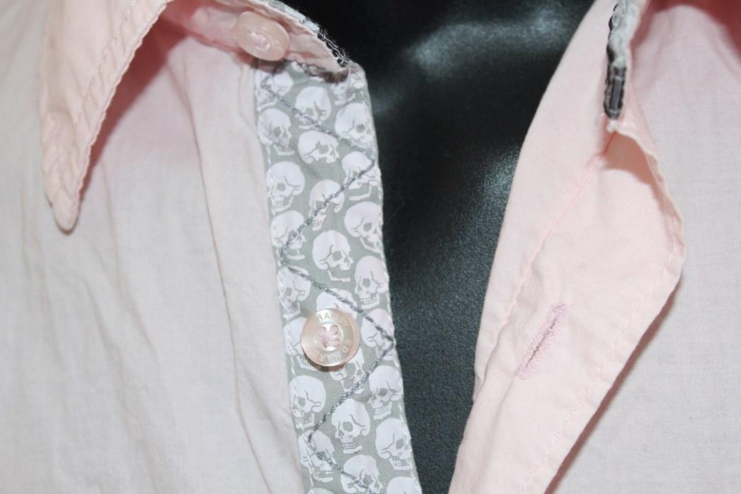 エドハーディー ED HARDY メンズ半袖シャツ ピンク Sサイズ 新品 EMB10094SP_画像3