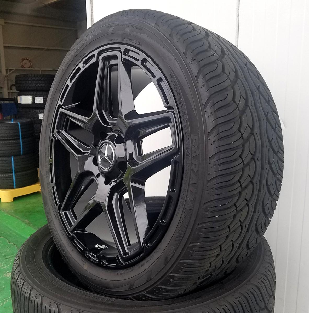 国産タイヤset LEXXEL Anthem メルセデス ベンツ Gクラス ゲレンデ G63 G65 G550 G500 G350 YOKOHAMA PARADA SPEC-X 285/45R22 22インチ_画像8
