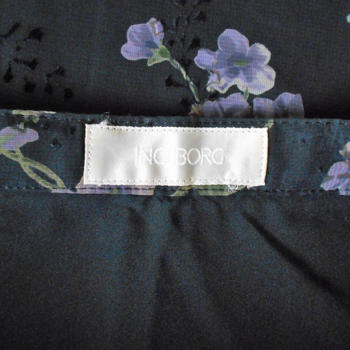 インゲボルグ INGEBORG 春夏 向き 花柄 プリント シフォン の ロング 丈 フレア スカート 日本製_画像7