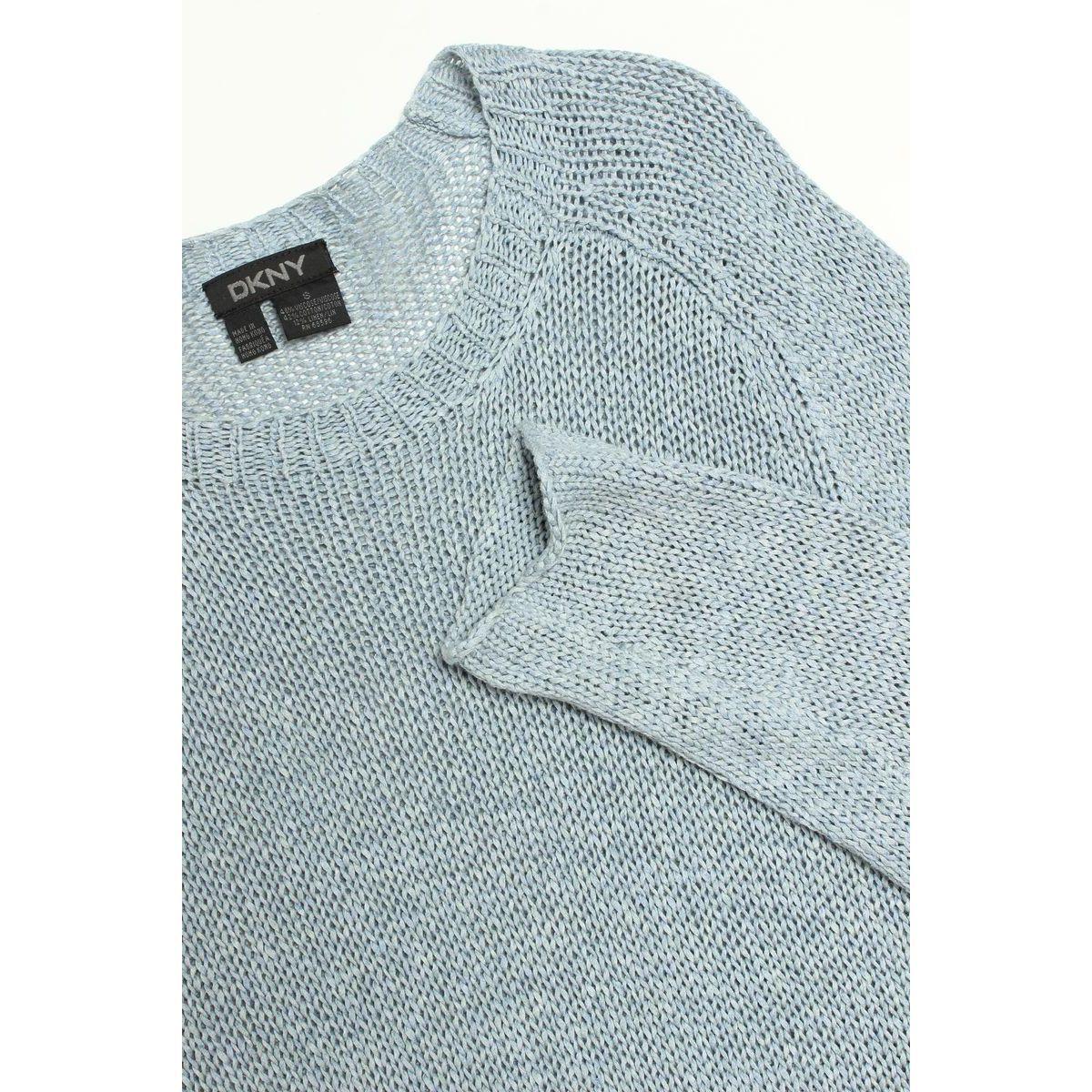 DKNY ダナキャラン ニューヨーク セーター ニット 長袖  青 ブルー S 910135_画像3