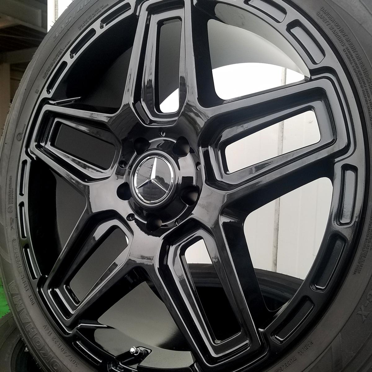 国産タイヤset LEXXEL Anthem メルセデス ベンツ Gクラス ゲレンデ G63 G65 G550 G500 G350 YOKOHAMA PARADA SPEC-X 285/45R22 22インチ_画像1