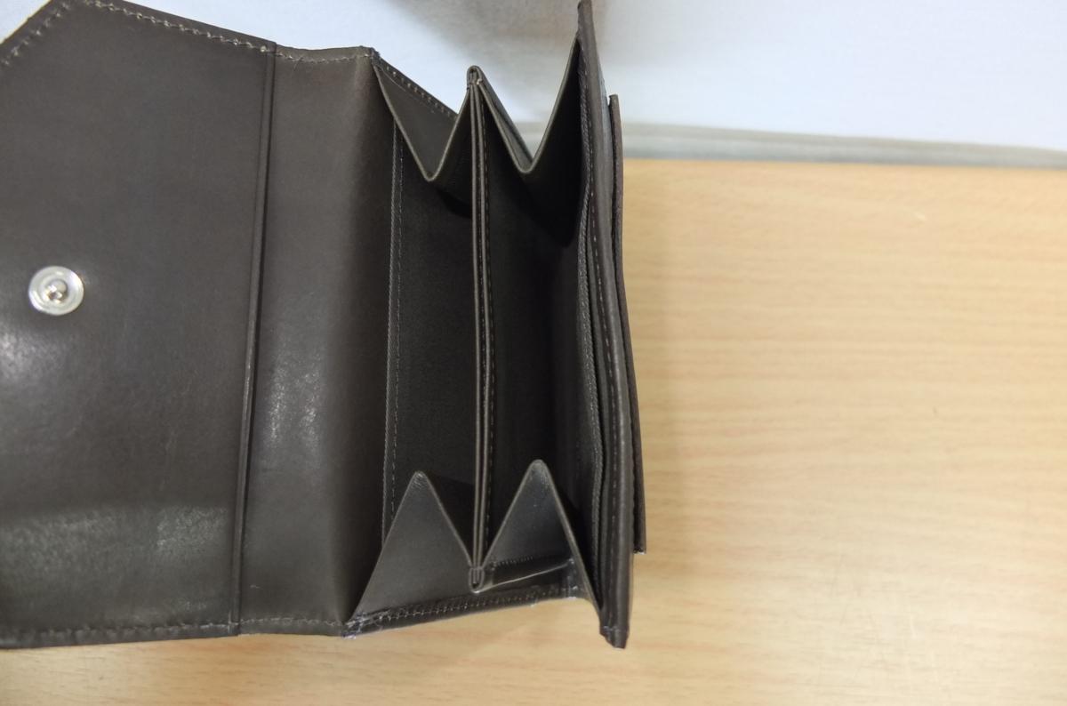 英国MARGARET HOWELL idea 2つ折財布 ウォレット 牛革 濃グリーン系カーキ★新品格安!_画像8