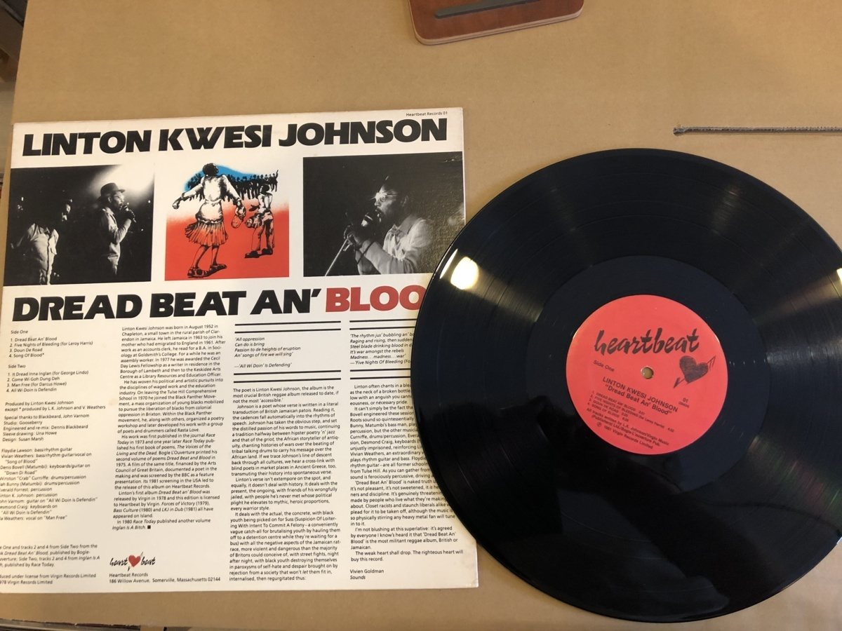 LINTON KWESI JOHNSON(リントン・クウェシ・ジョンソン)/DREAD BEAT AN' BLOOD HEARTBEAT RECORDS-01 #100082_画像2