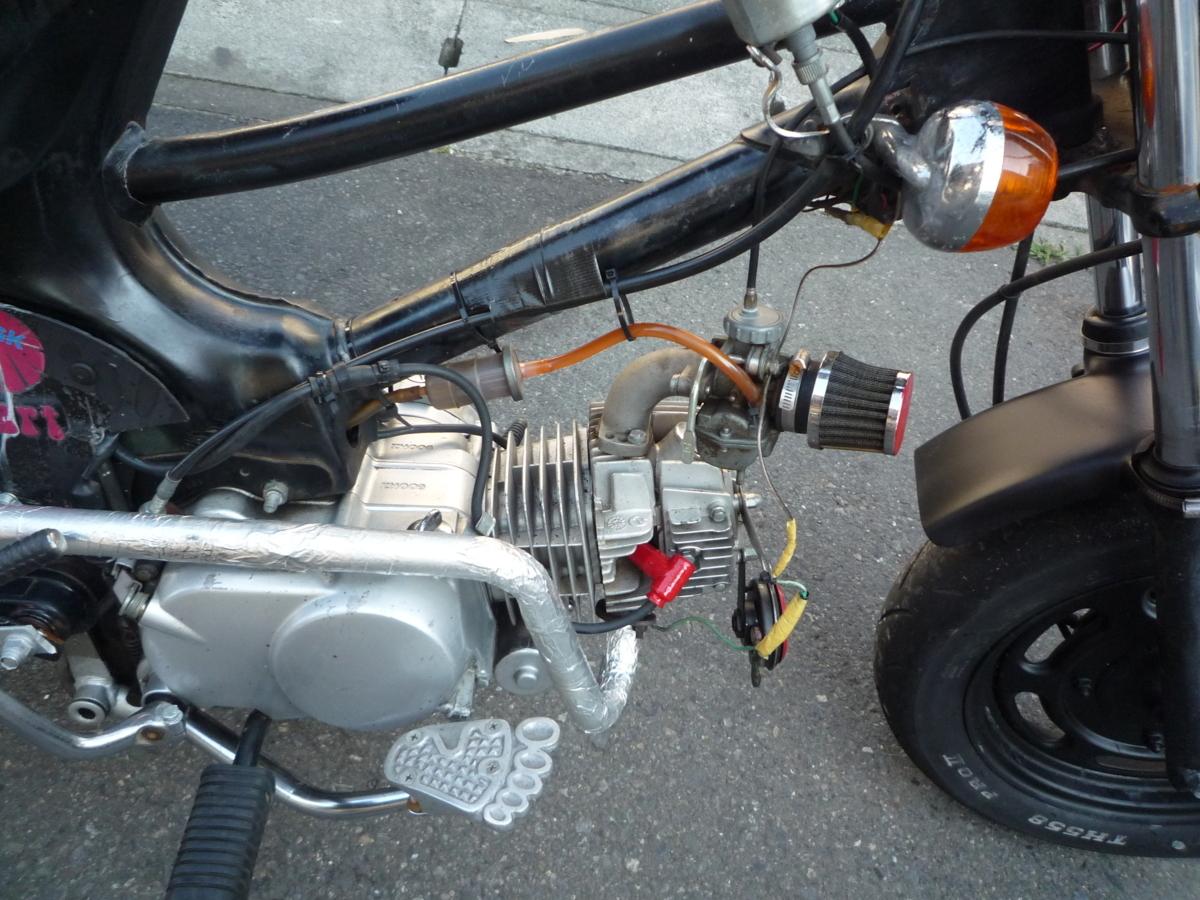 スーパーカブ50 C50 エイプ足回りカスタム 125エンジン 実働書類あり 即決価格_画像3