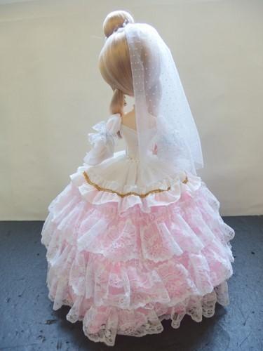 691261s【サイズB】昭和レトロ ドレスを着た女の子 ポーズ人形/H52cm/中古品_画像5