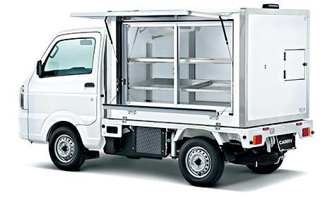 サーマルマスター製 冷凍機 ■後付冷凍車製作■ 4WD用 東洋ブラザーズ製冷凍箱 低温 100mm厚 ★セット★ _庫内をこのように架装することも可能です