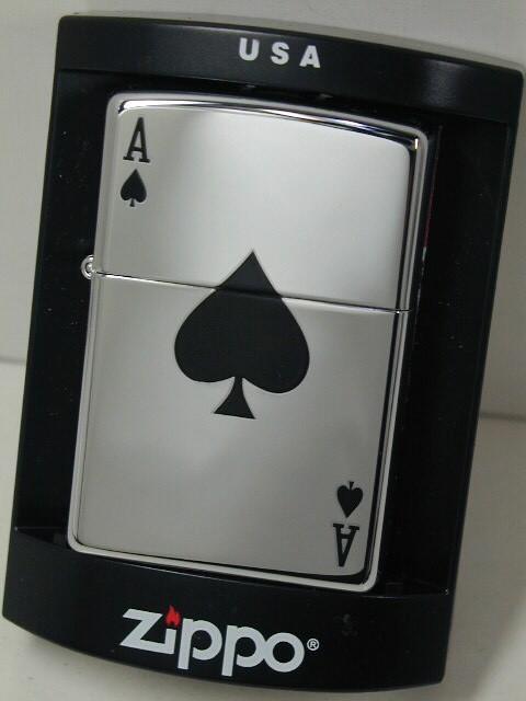 ジッポーZippo Lucky Ace トランプ スペードエース A ハイポリ250 /24011_画像1