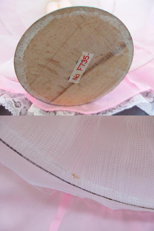 691261s【サイズB】昭和レトロ ドレスを着た女の子 ポーズ人形/H52cm/中古品_画像10