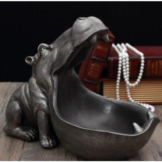 【送料無料】カバの像 装飾 樹脂 工芸品 彫刻 像の装飾家 装飾 アクセサリー インテリア O040_画像3