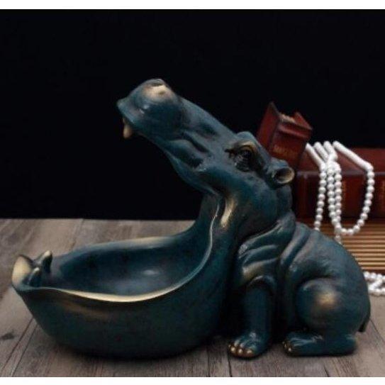 【送料無料】カバの像 装飾 樹脂 工芸品 彫刻 像の装飾家 装飾 アクセサリー インテリア O040_画像2