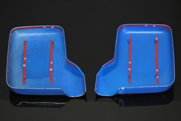 MADMAX トラック用品 SUZUKI スズキ キャリー キャリィ (DA63T DA65T DA16T) ブルー カーボン ミラーカバー 左右SET/軽トラ【送料800円】_画像3