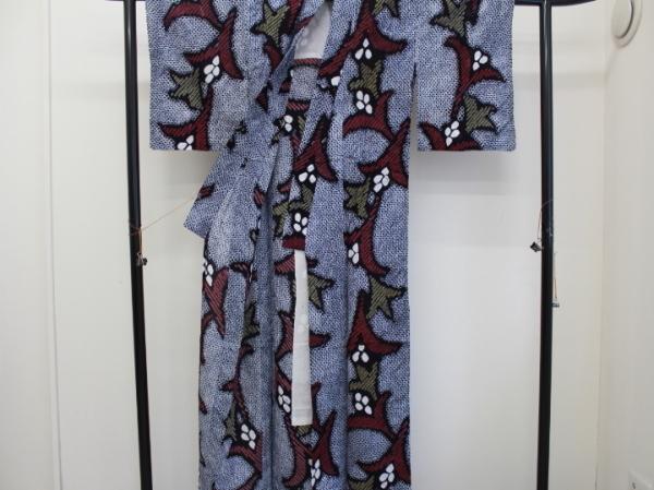〔楽布〕P1800 木綿 絞り浴衣  nk_画像2