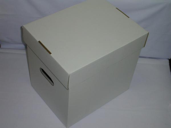 ☆(レコード(LP・LD用)保管用カートンボックス(白)(未組み立て品)×5箱セット_画像1