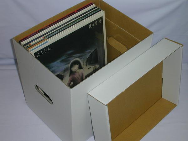☆(レコード(LP・LD用)保管用カートンボックス(白)(未組み立て品)×5箱セット_画像2