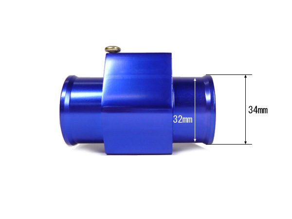 NPT1/8 水温センサー 取付 アダプター アタッチメント 差込口径34mm/内側口径32mm 青 水温計センサー アルマイト仕上げ/c22_画像2