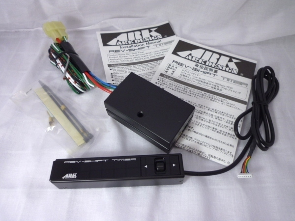 日本製 多機能 ARK-DESIGN オートタイマー RST 青LED Rev Shift Timer 空燃比計 タコメーター シフトランプ 01-0001B-00 アークデザイン_画像2
