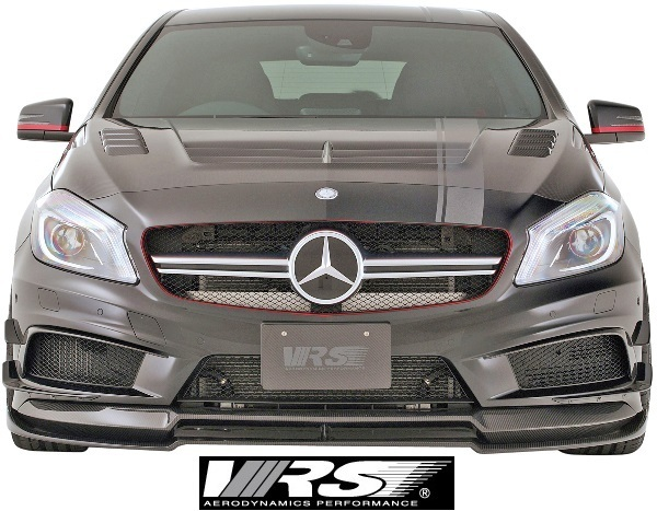 【M's】W176 A45AMG (2013y-2018y) VRS フロントスポイラー+エクステンションリップ SET//FRP+CARBON バリス VARIS Aクラス VAM-4502_画像4