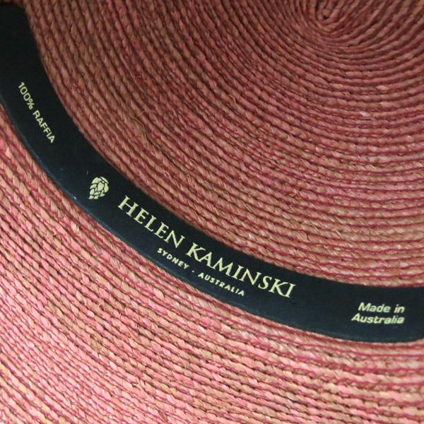HELEN KAMINSKI SIENNA ストローハット ピンク ヘレンカミンスキー 麦わら帽子_画像6