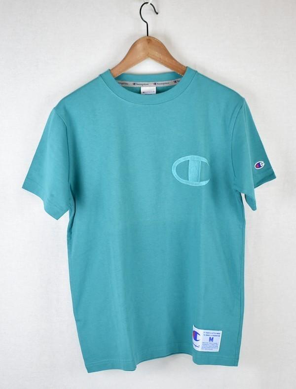 Champion/チャンピオン 19SS 胸ロゴTシャツ C3-M358 サイズ:M カラー:グリーン 19n06_画像1