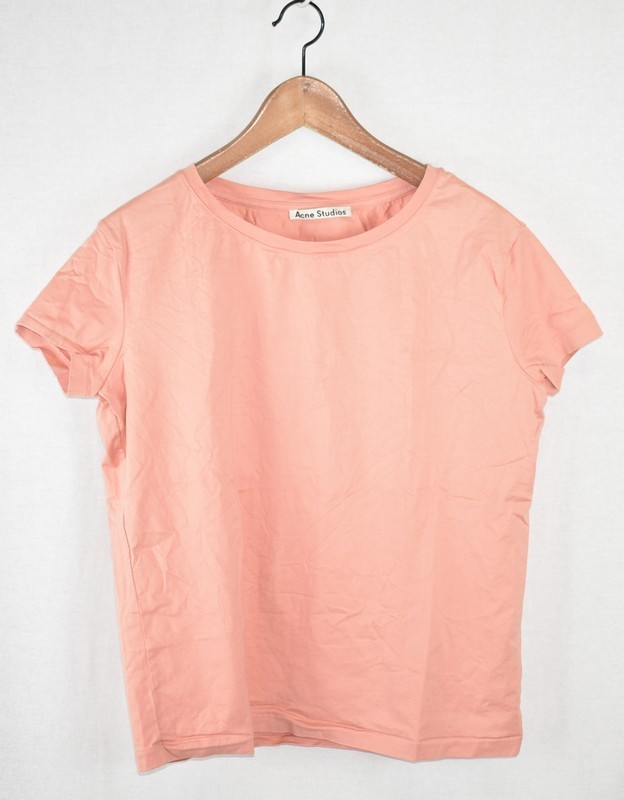 ACNE STUDIOS/アクネストゥディオズ クルーネックTシャツ サイズ:S カラー:ピンク 19n06_画像1