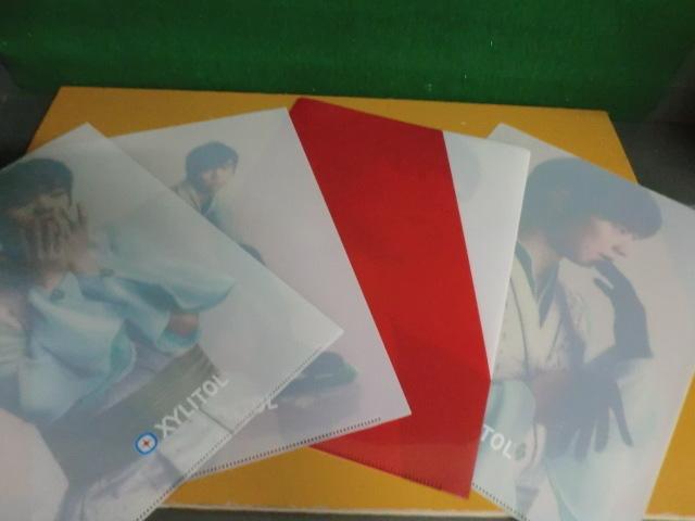 羽生結弦 クリアファイル 4枚セット ロッテ キシリトール/ガーナ _画像2