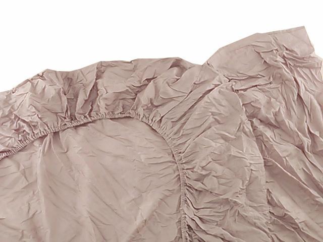 F9959■訳あり ボックスシーツ 綿100% 防ダニ 抗菌防臭 ジャカード織り サテン地 シングル 幅100x200xマチ30cm ダマスク柄 ピンクグレー_画像4