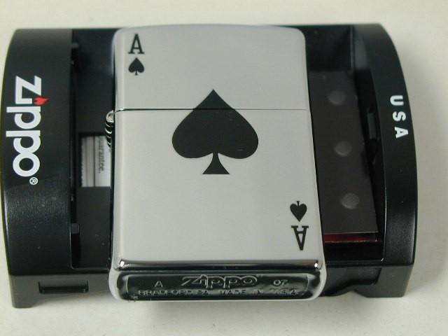 ジッポーZippo Lucky Ace トランプ スペードエース A ハイポリ250 /24011_画像2