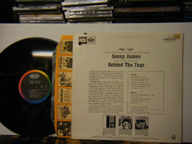 ▲LP SONNY JAMES ソニー・ジェイムス / BEHIND THE TEAR ビハインド・ザ・ティアー 輸入盤_画像2