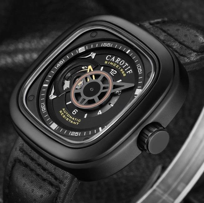 【送料無料☆WEB領収書発行】カロチフ 腕時計 自動機械式 メンズ モントレオム 高級_画像2