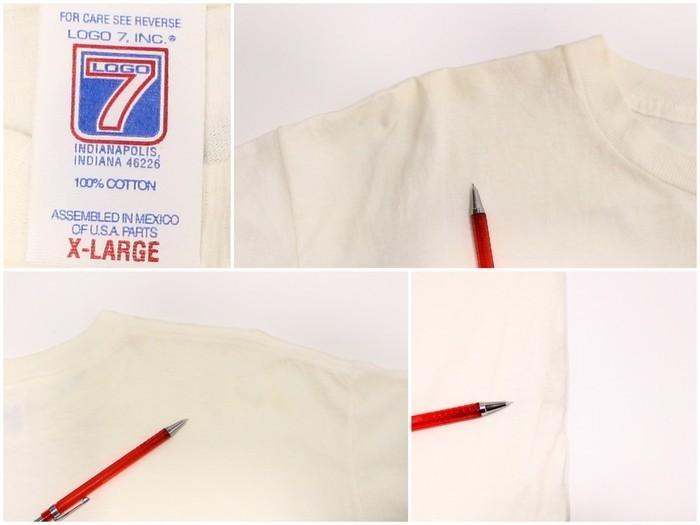 90s NFL 1999年 スーパーボール プリントTシャツ Falcons Broncos 古着 ★ XLサイズ ホワイト LOGO7_90s NFL 1999年 スーパーボー