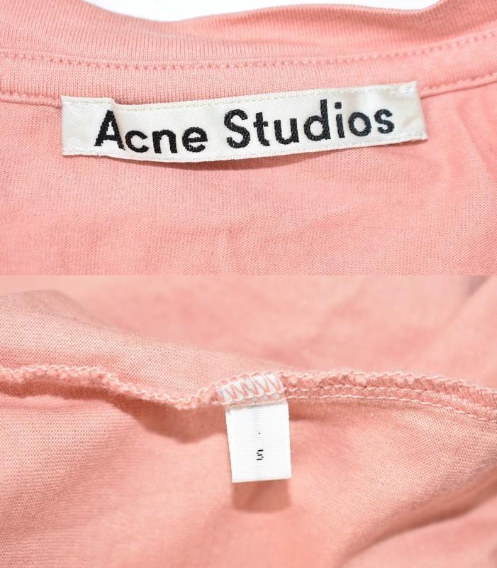 ACNE STUDIOS/アクネストゥディオズ クルーネックTシャツ サイズ:S カラー:ピンク 19n06_画像3