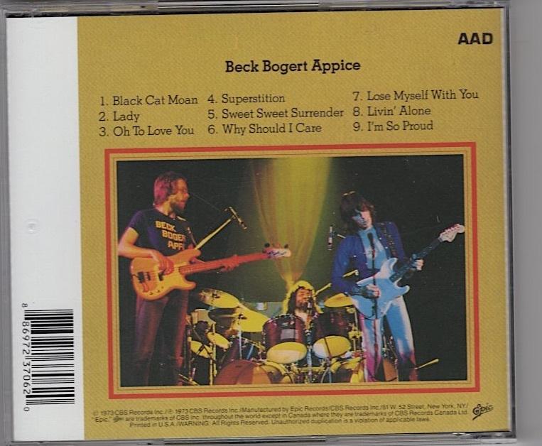 Beck Bogert Appice / Beck Bogert Appice_画像2