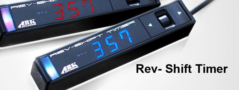 日本製 多機能 ARK-DESIGN オートタイマー RST 青LED Rev Shift Timer 空燃比計 タコメーター シフトランプ 01-0001B-00 アークデザイン_画像6