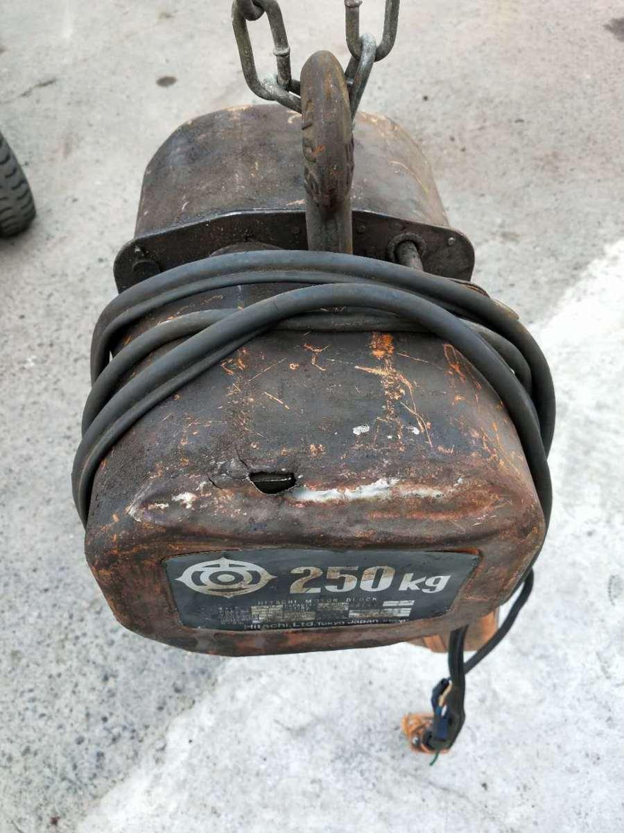 日立 HITACHI 1/4BF 電動 チェーンホイスト ウインチ 荷重 250kg 揚程3m 200V_画像3