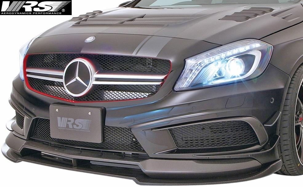 【M's】W176 A45AMG (2013y-2018y) VRS フロントスポイラー+エクステンションリップ SET//FRP+CARBON バリス VARIS Aクラス VAM-4502_画像1