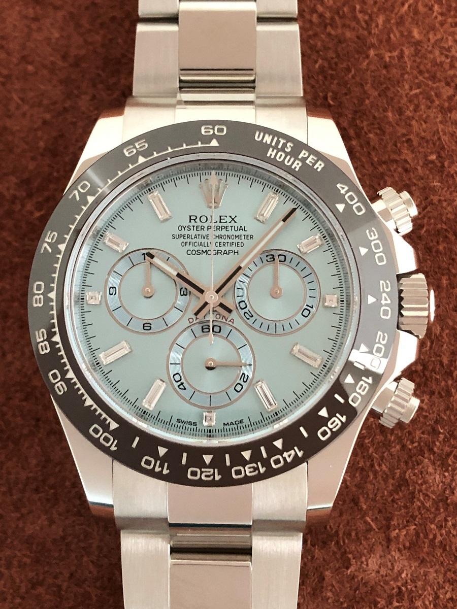 【a-watch名古屋】ロレックス(ROLEX)コスモグラフ デイトナ Ref.116506A プラチナ アイスブルー文字盤 11Pバケットダイヤモンド 未使用
