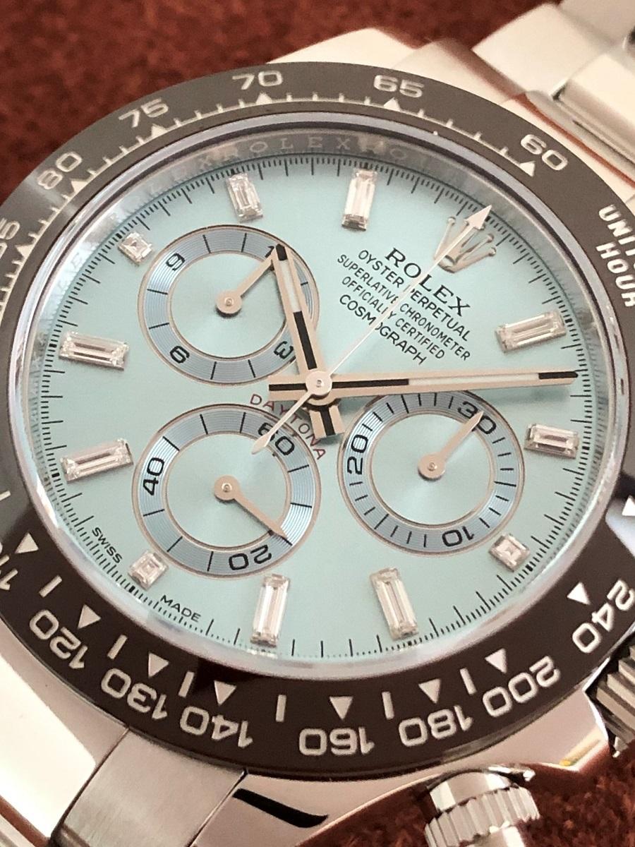 【a-watch名古屋】ロレックス(ROLEX)コスモグラフ デイトナ Ref.116506A プラチナ アイスブルー文字盤 11Pバケットダイヤモンド 未使用_画像2