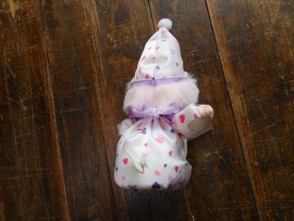 オルゴール 首振り 天使 世界はひとつ ワンワールド 10xd15h22cm 150g おもちゃ ぬいぐるみ 昭和レトロ 置物_画像3
